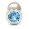 Rosebuds Swarovski Anal Acero 84 X 40 Mm Cristal Aquamarine