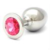 Rosebuds Swarovski Anal Acero 84 X 40 Mm Cristal Rosa
