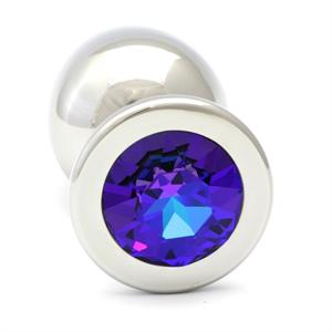 Rosebuds - Swarovski Cristal Azul Marino Plug Anal Xl  9.6cm / 2.7 Cm