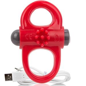 Screaming O Anillo Vibrador Recargable Yoga Rojo
