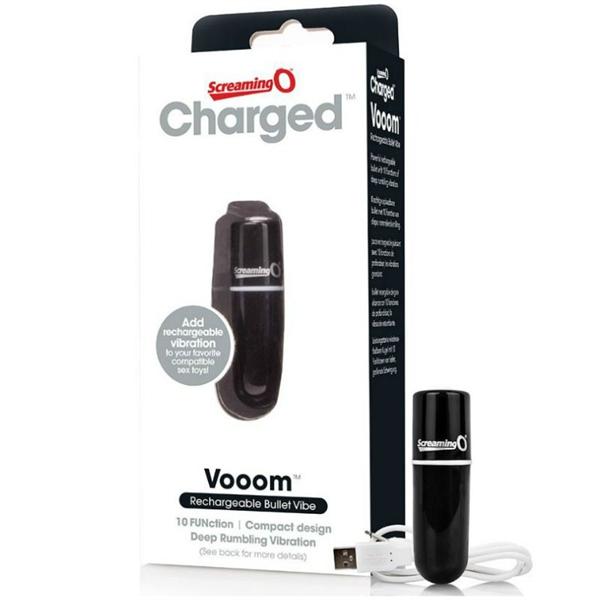 Screaming O - Charged Vooom Bala Vibradora - Negro