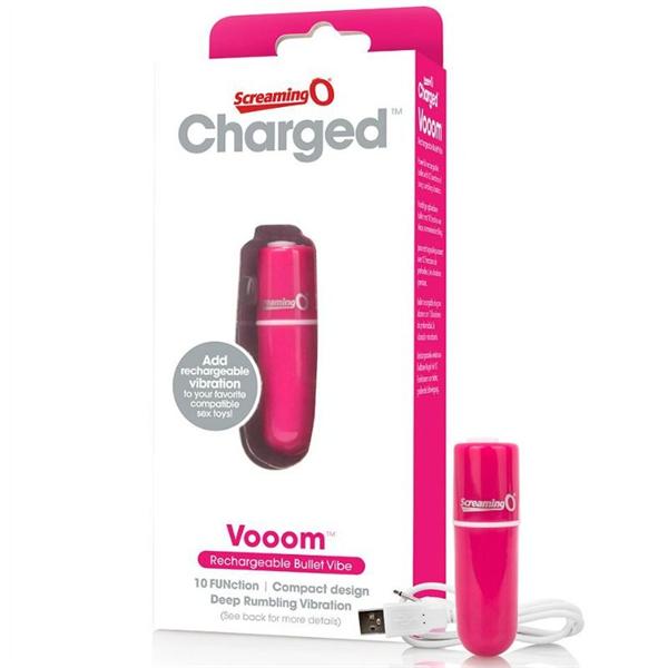 Screaming O - Charged Vooom Bala Vibradora - Rosa