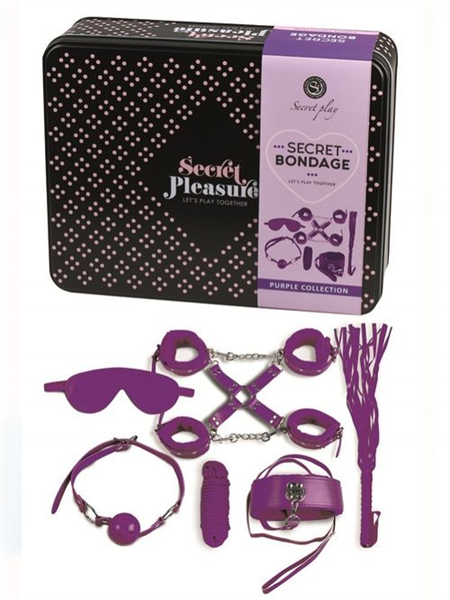 Secretplay Set Fetish 8 Piezas en Morado