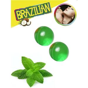 Secretplay Brazilian Balls  Menta Set  2 Bolas
