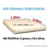 Sensitex Sábanas Desechables 15 gr. de 150x200 cm. (200)