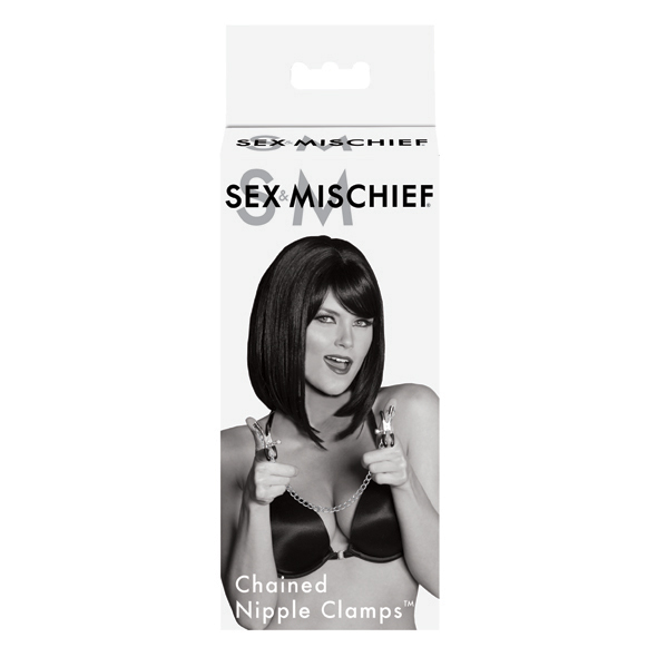 Sex&mischief Chained Nipple Clamps (Pezoneras)
