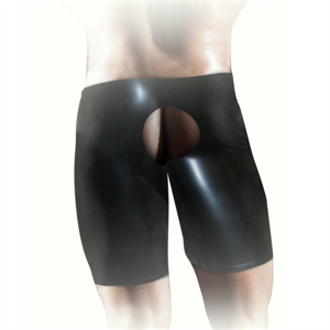 Shots Fistit - Shorts De Latex Unisex - Negro L/Xl