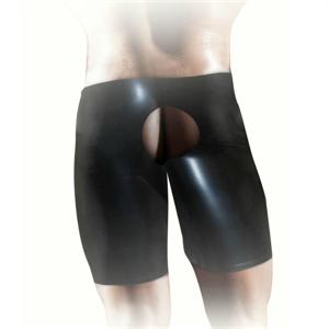 Shots Fistit - Shorts De Latex Unisex - Negro S/M