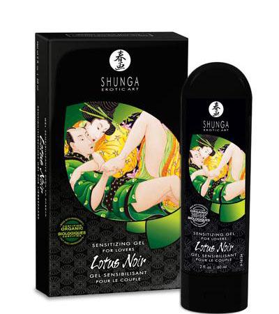 Shunga Gel Bio Estimulante Lotus Noir para Parejas
