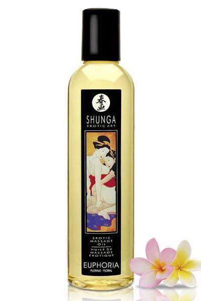 Shunga Aceite de Masaje Euphoria (Flores)