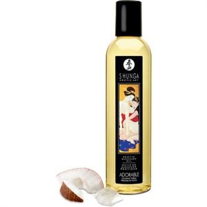 Shunga Aceite De Masaje Adorable - Sensación de Coco