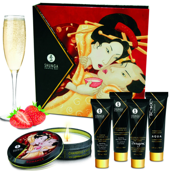 Shunga - Kit Secret Geisha Fresa Champagne