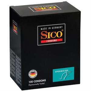 Sico Condoms Preservativos Con Espermicida 100 Unidades