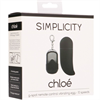 Simplicity - Simplicity - Huevo Vibrador Con Estimulacion Punto G Chloé - Negro