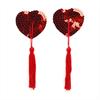 Spencer & Fleetwood Burlesque Pezoneras De Lentejuelas Rojas