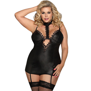 Subblime Queen Plus Size Subblime Queen Plus Chemise Fetish Con Liguero