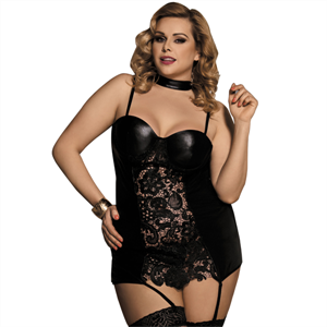 Subblime Queen Plus Size Subblime Queen Plus Corset Estilo Fetish Bordado Floral Central