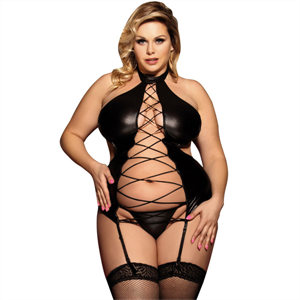 Subblime Queen Plus Size Subblime Queen Plus Corset Fetish Entrelazado Central