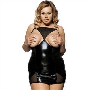 Subblime Queen Plus Size Subblime Queen Plus Fetish Vestido Pechos Descubiertos