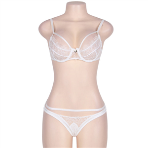 Subblime Queen Plus Size Subblime Queen Plus Set Dos Piezas Con Tirantas Blanco