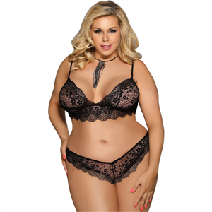 Subblime Queen Plus Size Subblime Queen Plus Set Sujetador + Panties