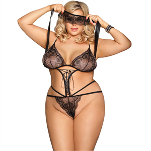 Subblime Queen Plus Size Subblime Queen Plus Teddy Con Antifaz Negro