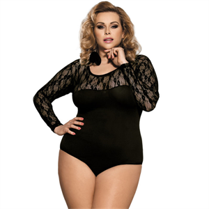 Subblime Queen Plus Size Subblime Queen Plus Teddy Manga Larga Negro