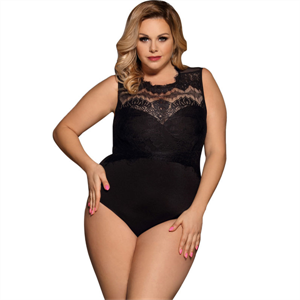 Subblime Queen Plus Size Subblime Queen Plus Teddy Opaco Negro