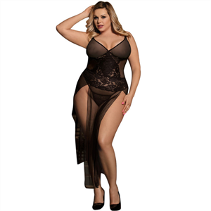 Subblime Queen Plus Size Subblime Queen Plus Vestido Largo Con Bordados Florales