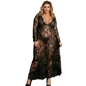 Subblime Queen Plus Size Subblime Queen Plus Vestido Largo Manga Larga