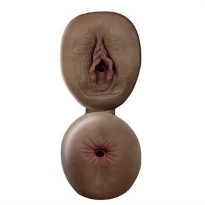 Topco Sales Cybersking Fresh Ano Y Vagina Masturbador Negro