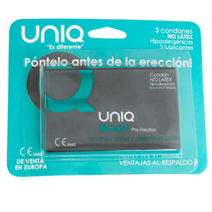 Unique Uniq Smart Pre-erección Preservativo Sin Latex  3uds