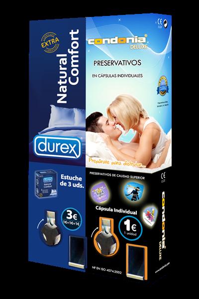 Máquina Vending 2 Canales - Durex & Condonia