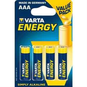 Varta Energy Pila Alcalina Aaa Lr03 Blister*4