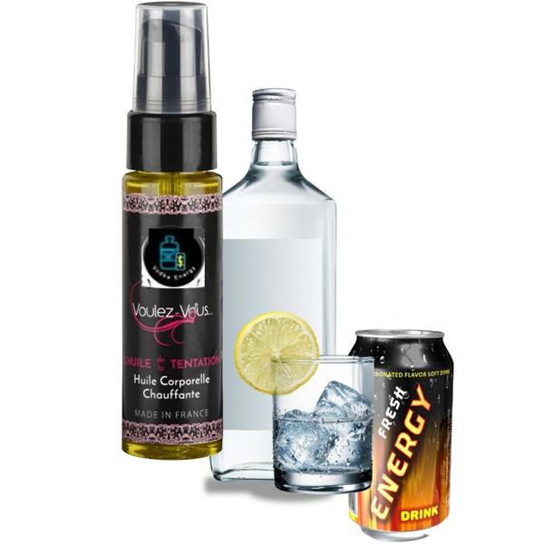 Voulez-vous... - Voulez-vous - Aceite Efecto Calor - Vodka Red Bull 35 Ml