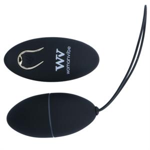 Womanvibe  Alsan Huevo Control Remoto Negro Silicona Negro