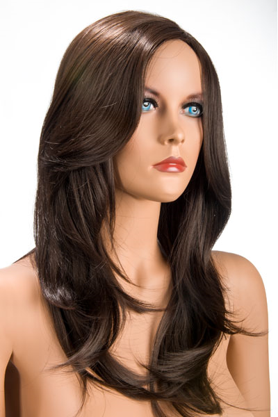 World Wigs - Olivia Larga Peluca Castaño